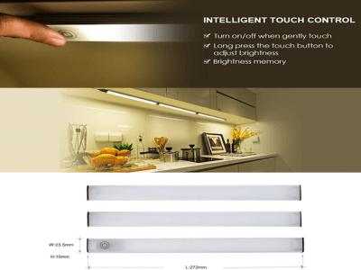 Juego de 3 Barras LED de Sensor Táctil conectadas con Memoria de Brillo