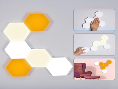 (Pack x6 Uds) Lámpara LED Honeycomb con Sensor de Brillo Táctil