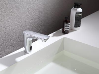 Grifo Automático Sensor Infrarrojo, Aleación Zinc. Grifo Inteligente Lavabo, agua caliente y fría