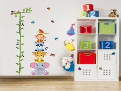 Animales, Grafico de crecimiento, Tamaño grande, desmontable, para niños, guardería, sala de juegos