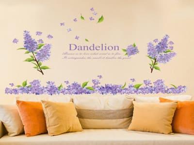 Flores Adhesivas, Tamaño Grande, Desmontable, Decoración de Habitación Hogar