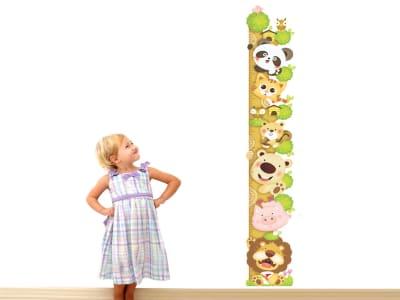 Animales, Grafico de crecimiento, , Tamaño grande, desmontable, para niños, guardería, sala de juego