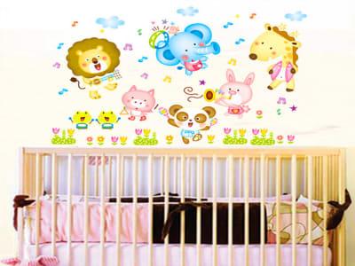 Animales, Tamaño grande, desmontable, para niños, guardería, sala de juegos
