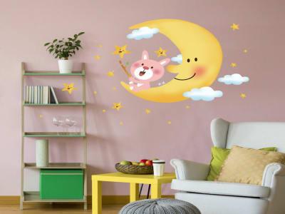 Luna Adhesivo, Tamaño grande, Desmontable, para niños, guardería, sala de juegos