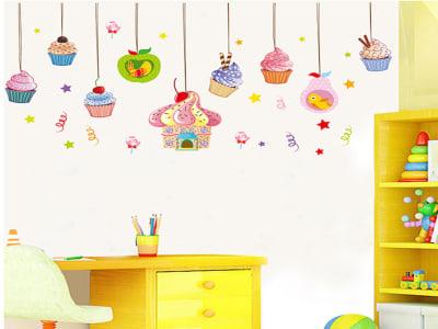 Postres Adhesivo, Tamaño grande, Desmontable, para niños, guardería, sala de juegos