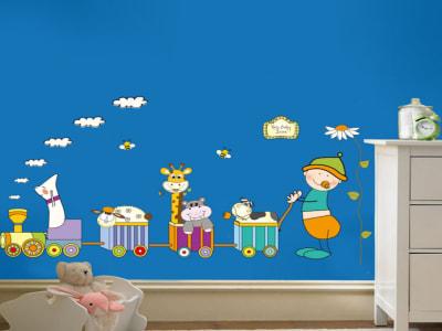Animales Adhesivo, Tamaño grande, Desmontable, para niños, guardería, sala de juegos