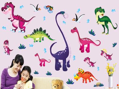 Dinosaurios Adhesivo, Tamaño grande, Desmontable, para niños, guardería, sala de juegos