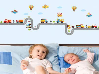 Carretera Adhesivo, Tamaño grande, Desmontable, para niños, guardería, sala de juegos