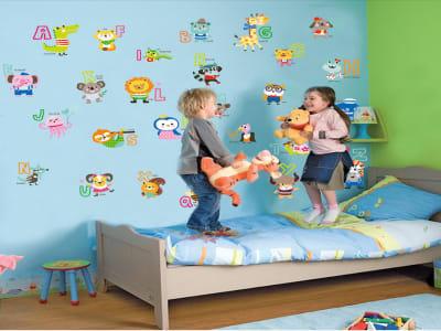 Animales ABC Adhesivo, Tamaño grande, Desmontable, para niños, guardería, sala de juegos