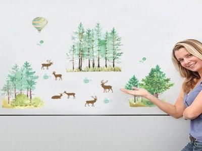 Bosque Adhesivas, Tamaño Grande, Desmontable, Decoración de Habitación Hogar