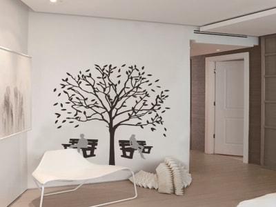 Diseño Moderno Adhesivas, Tamaño Grande, Desmontable, Decoración de Habitación Hogar