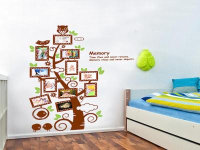 Árbol con Marcos para Fotos Adhesivo, Tamaño Grande, Desmontable, Decoración de Habitación Hogar