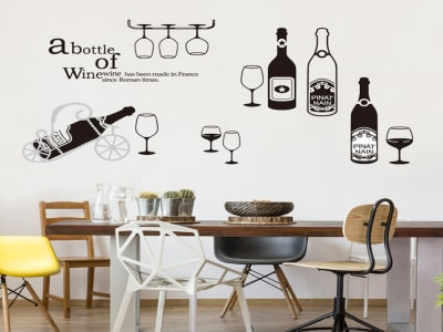 Botella de vino Moderna Adhesivo, Tamaño Grande, Desmontable, Decoración de Habitación Hogar
