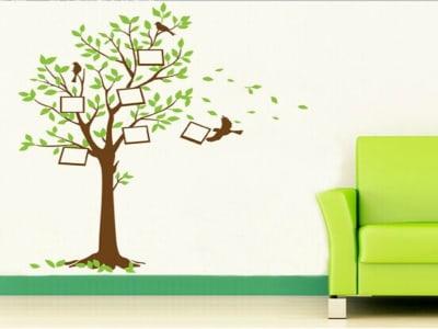 Árbol con Marcos de Fotos Adhesivo, Tamaño Grande, Desmontable, Decoración de Habitación Hogar