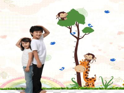 Jungla Seguimiento de Crecimiento para Niños Adhesivo, Tamaño grande, Desmontable, para niños, guard