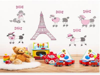 Torre Eiffel para Niños Adhesivo, Tamaño grande, Desmontable, guardería, sala de juegos