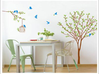 Árbol Pintado Adhesivo, Tamaño Grande, Desmontable, Decoración de Habitación Hogar