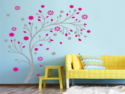 Diseño Árbol Moderno Adhesivo, Tamaño Grande, Desmontable, Decoración de Habitación Hogar