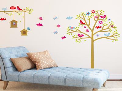 Árbol Colorido para Niños Adhesivo, Tamaño grande, Desmontable, para niños, guardería, sala de juego