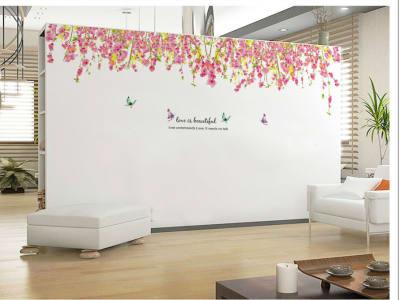 Árbol Romantico Rosado Adhesivo, Tamaño Grande, Desmontable, Decoración de Habitación Hogar