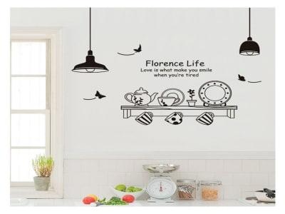 Vida de Florencia Adhesivo, Tamaño Grande, Desmontable, Decoración de Habitación Hogar