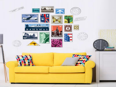 Sellos de Colores Adhesivo, Tamaño Grande, Desmontable, Decoración de Habitación Hogar