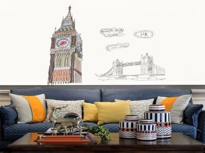 Moderno UK Adhesivo, Tamaño Grande, Desmontable, Decoración de Habitación Hogar
