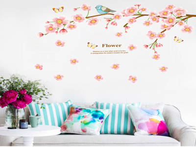 Árbol Romantico Adhesivo, Tamaño Grande, Desmontable, Decoración de Habitación Hogar