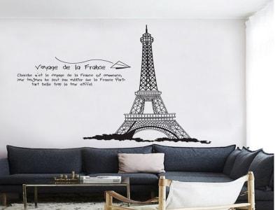 Tower Eiffel Adhesivo, Tamaño Grande, Desmontable, Decoración de Habitación Hogar