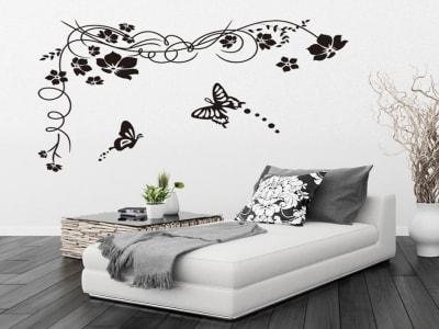 Preciosa Mariposa Adhesivo, Tamaño Grande, Desmontable, Decoración de Habitación Hogar