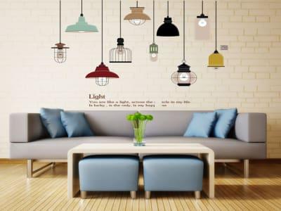 Preciosas Lámparas Adhesivo, Tamaño Grande, Desmontable, Decoración de Habitación Hogar