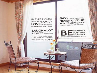 Texto Positivo Adhesivo, Tamaño Grande, Desmontable, Decoración de Habitación Hogar