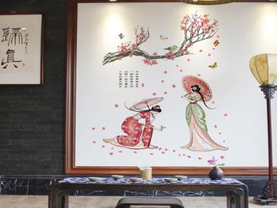 Preciosa Mujer Asiatica Adhesivo, Tamaño Grande, Desmontable, Decoración de Habitación Hogar