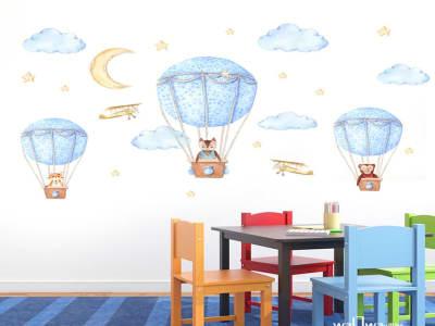 Globos Adhesivo, Tamaño grande, Desmontable, para niños, guardería, sala de juegos