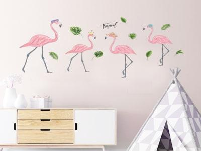 Flamingo Adhesivo, Tamaño Grande, Desmontable, Decoración de Habitación Hogar