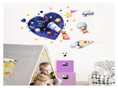 Espacio para Niños Adhesivo, Tamaño Grande, Desmontable, Decoración de Habitación Hogar