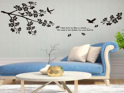 Pájaros Adhesivo, Tamaño Grande, Desmontable, Decoración de Habitación Hogar