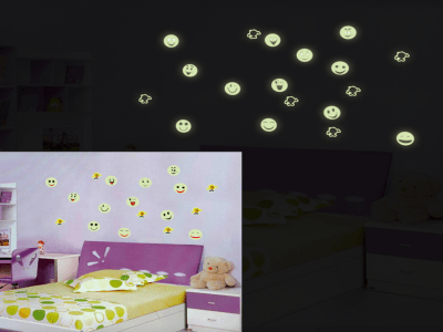 Pegatinas de Pared que Brillan en la Oscuridad, Fluorescentes y Realistas, Reutilizables