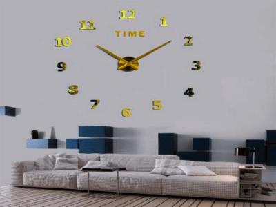 Reloj Pared 3D Quartz, Tamaño Grande, Vinilo Alta Calidad, Decorativo y Funcional, Hogar, Oficina