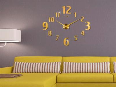 Reloj Pared 3D Quartz, Tamaño Grande, Vinilo Alta Calidad, Decorativo y Funcional, Hogar, Oficin
