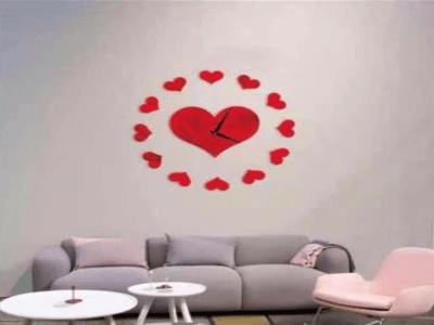 Moderno Corazón, Reloj Pared 3D Quartz, Efecto Espejo, Alta Calidad, Decorativo y Funcional, Hogar, Oficina, etc