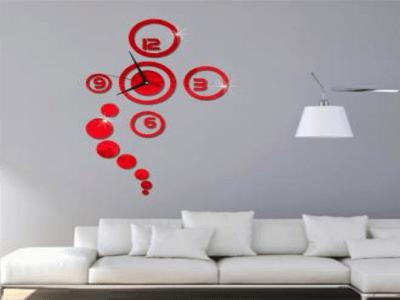 Circulo Moderno, Reloj Pared 3D Quartz, Efecto Espejo, Alta Calidad, Decorativo y Funcional, Hogar, Oficina, etc