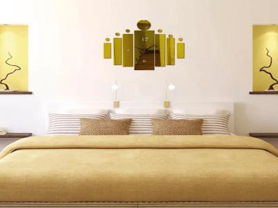 Moderno, Reloj Pared 3D Quartz, Efecto Espejo, Alta Calidad, Decorativo y Funcional, Hogar, Oficina, etc
