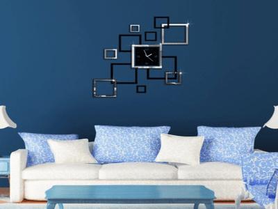 Moderno cuadrado, Reloj Pared 3D Quartz, Efecto Espejo, Alta Calidad, Decorativo y Funcional, Hogar, Oficina, etc