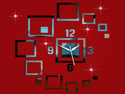 Diseño Moderno, Reloj Pared 3D Quartz, Efecto Espejo, Alta Calidad, Decorativo y Funcional, Hogar, Oficina, etc