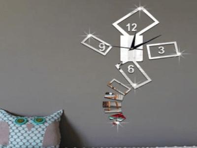 Moderno Diseño, Reloj Pared 3D Quartz, Efecto Espejo, Alta Calidad, Decorativo y Funcional, Hogar, Oficina, etc