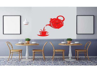 Taza de Café, Reloj Pared 3D Quartz, Efecto Espejo, Alta Calidad, Decorativo y Funcional, Hogar, Oficina, etc