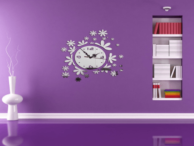 Copo de Nieve, Reloj Pared 3D Quartz, Efecto Espejo, Alta Calidad, Decorativo y Funcional, Hogar, Oficina, etc