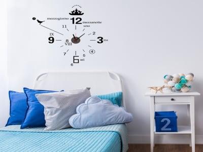 Diseño Italiano, Reloj Pared Quartz, Vinilo Alta Calidad, Decorativo y Funcional, Hogar, Oficina, et
