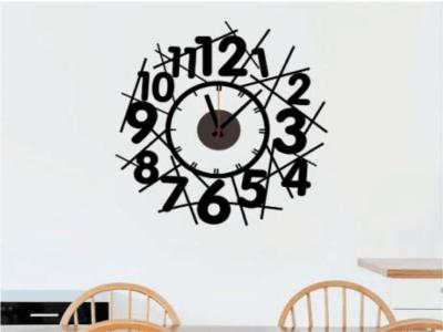 Diseño Abstracto, Reloj Pared Quartz, Vinilo Alta Calidad, Decorativo y Funcional, Hogar, Oficina, e